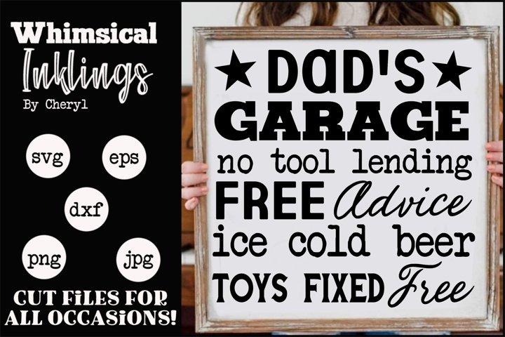 Dads Garage 7 SVG