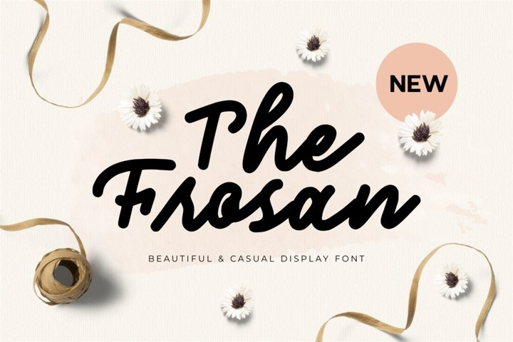 The Frosan Display Font