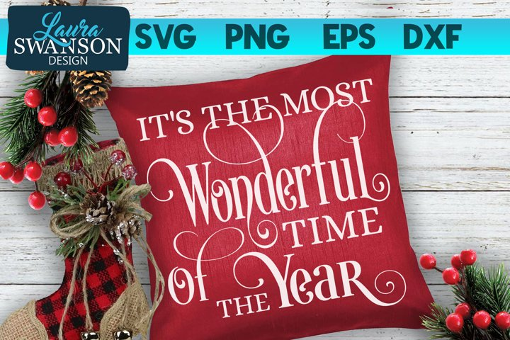 Its the Most Wonderful Time of the Year SVG, PNG, EPS, DXF