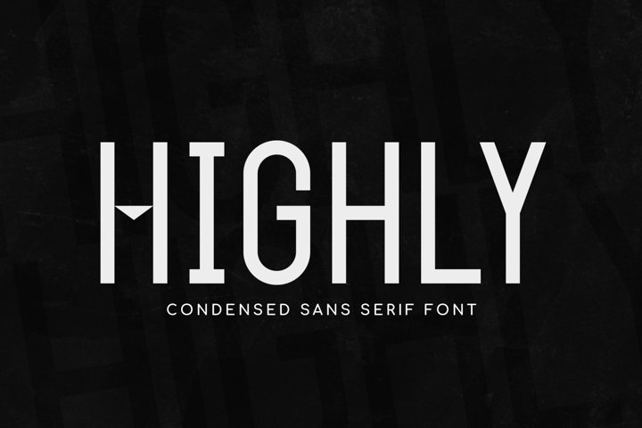 Highly - a Simple Condensed Typeface