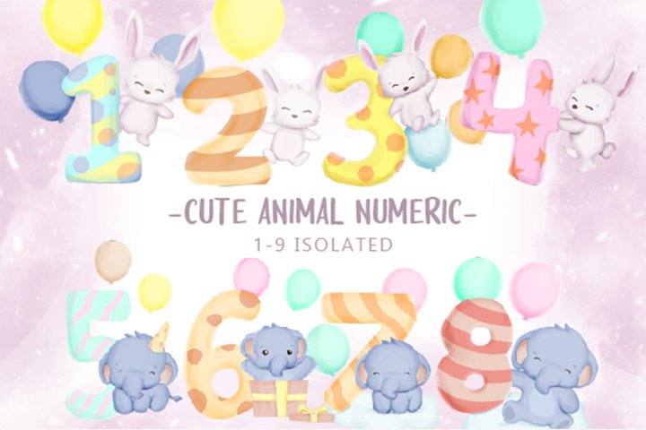 Cute Animal With Numeric