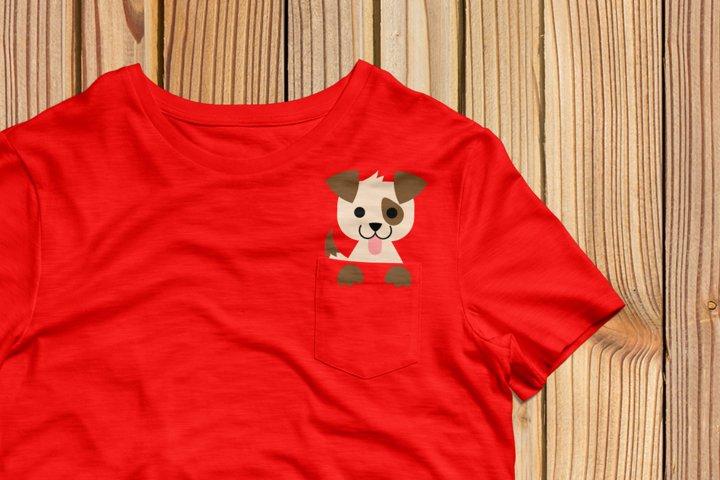 Pocket Dog SVG Design