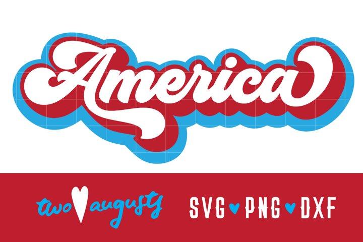 America, Retro, USA, American, United States, SVG, Merica