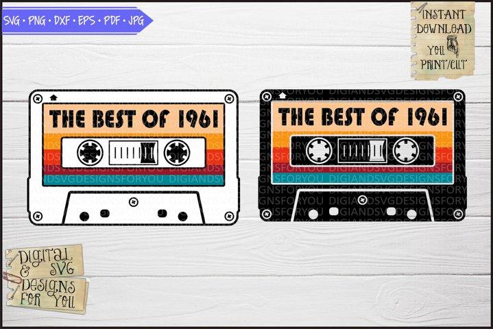 Best of 1961 Vintage cassette, Birthday 1960s
