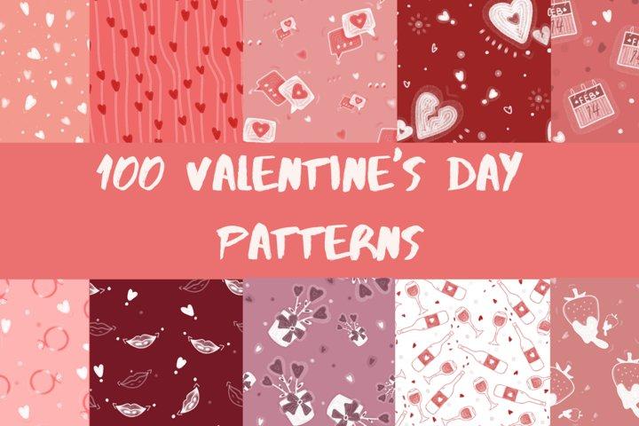 100 Valentines day patterns
