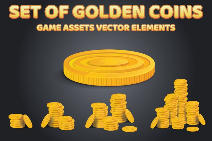Set of Golden Coins Assets