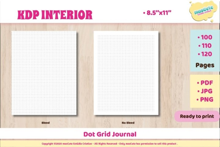 KDP interior Calligraphy practice paper example 1
