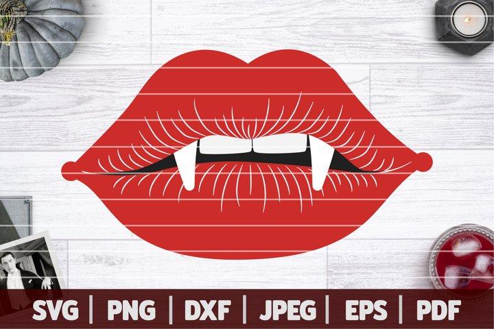 Draculas Lips SVG, Halloween Vampire SVG