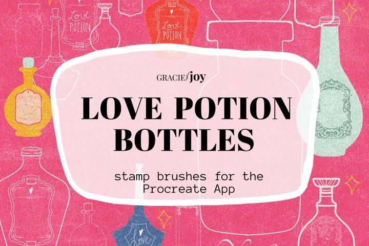 Love Potion Bottle Procreate Stamp Brush
