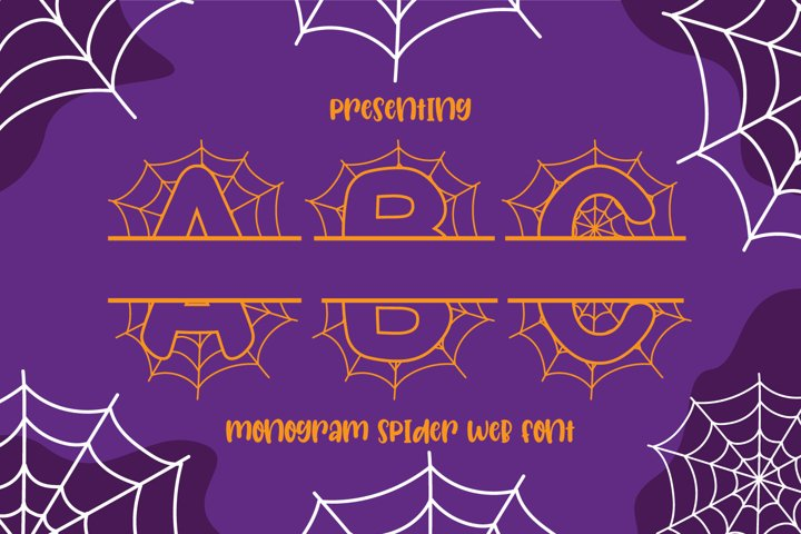 Spider Web - Monogram Font for Halloween