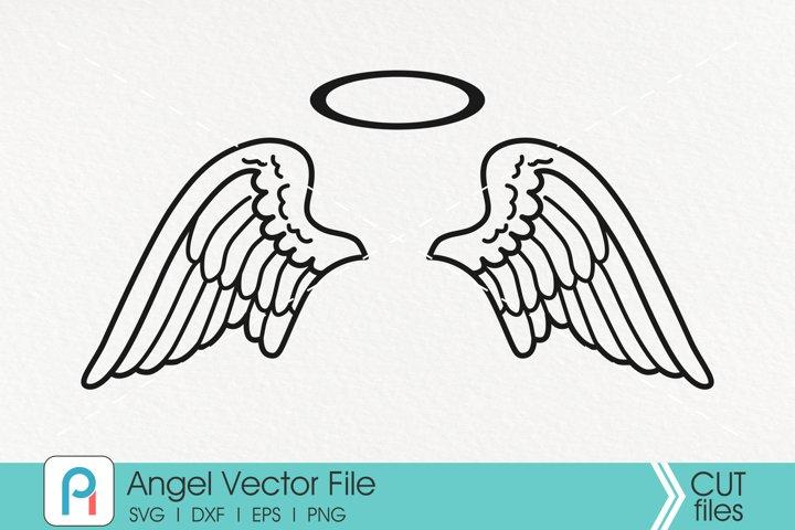 Angel Wings Svg, Angel Svg, Wings Svg, Baby Memorial Svg