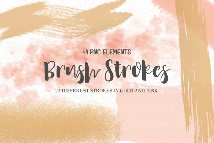 Pink and Gold Brush Strokes Bonus
