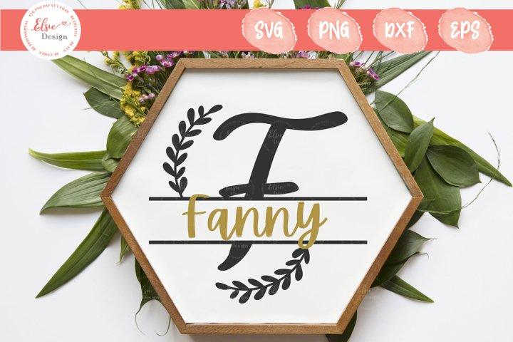 Handlettered Split Monogram F SVG Cut Files