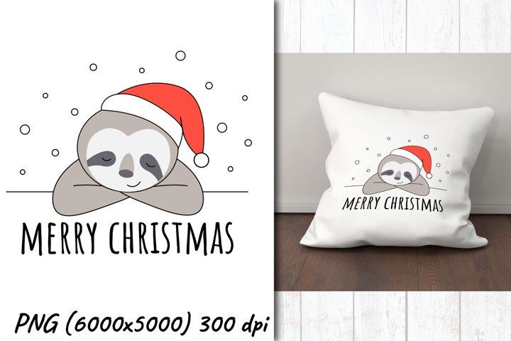 Christmas sloth | Sublimation design | Merry christmas