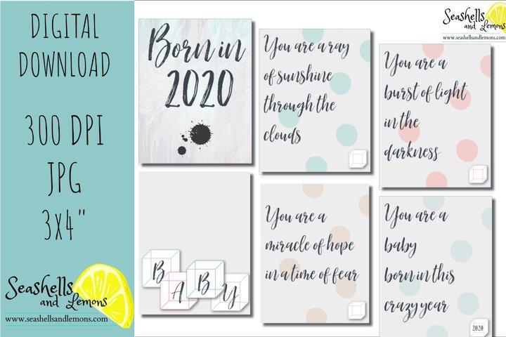 Baby Born in 2020 - Poem - Baby Book - Baby Scrapbook