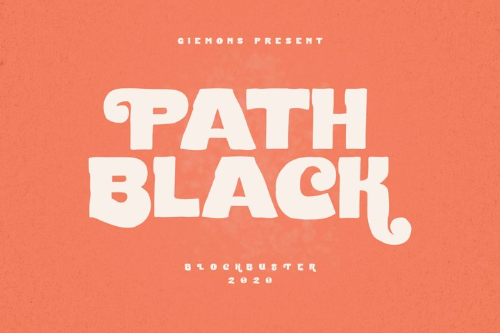 Path Black Typeface