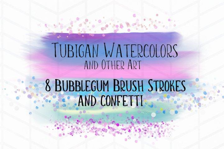 8 Brush Strokes in Bubblegum Unicorn