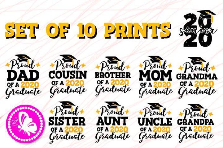 Bundle Graduation 2020 Proud Family of a Graduate svg Grad