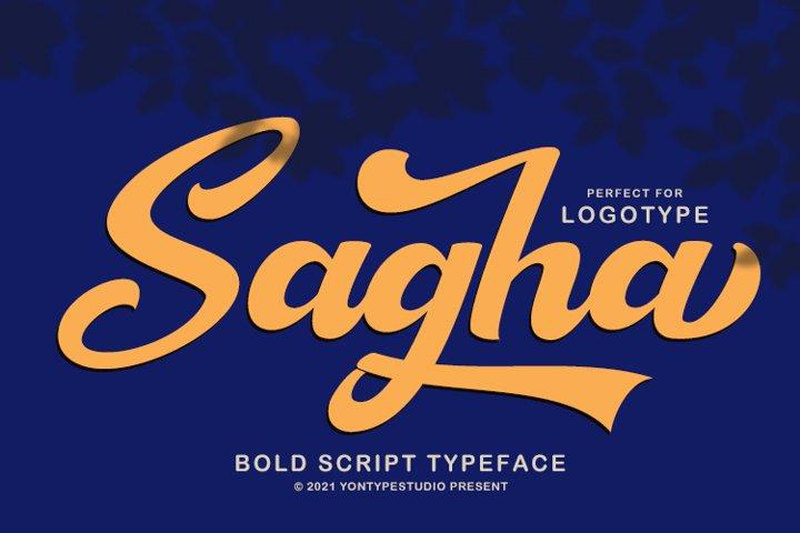 Sagha A Modern Script Typeface