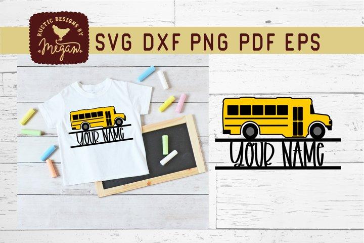 School Bus Monogram SVG