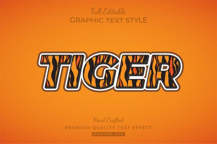 Tiger Editable 3D Text Style Effect Premium