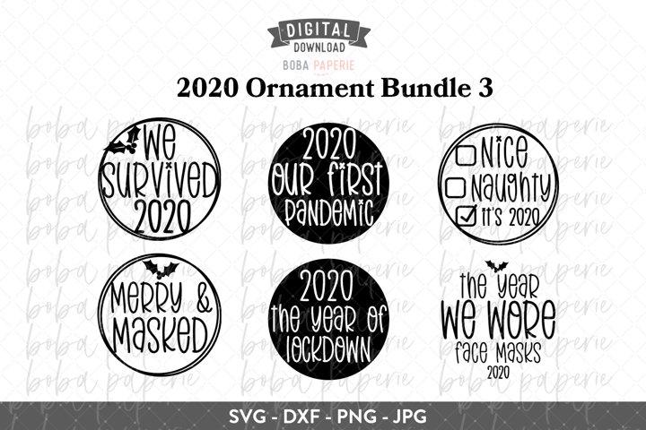2020 Christmas Ornament Bundle SVG -