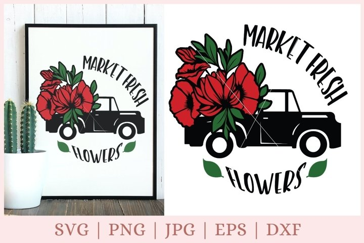 Market Fresh svg, Flowers svg, farm svg, farmhouse svg