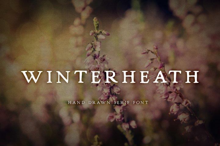 Winterheath Hand Drawn Serif Font