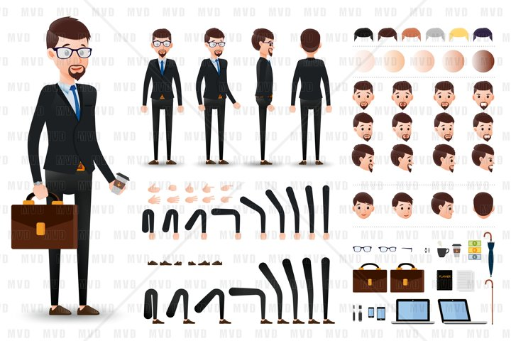 Businessman Character Creation Kit Template