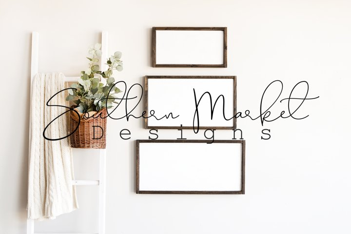 8x16 12x20 12x24 Wood Sign Mock Up Collage Farmhouse Styled
