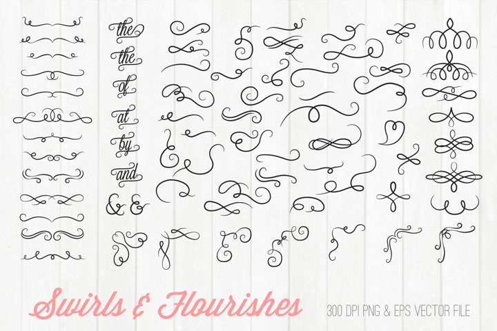 Swirls and Flourishes Clipart SVG PNG EPS