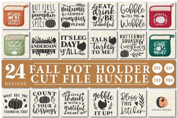 Pot Holder Fall Theme Cut File Bindle