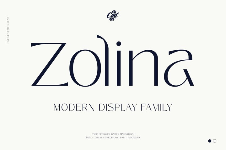Zolina - Modern Display Font