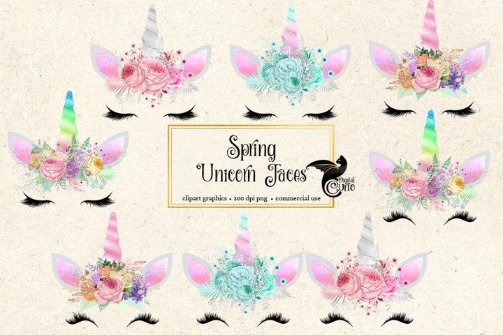 Spring Unicorn Face Clipart