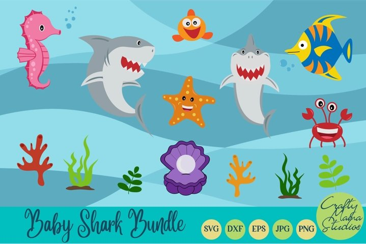 Baby Shark Svg, Shark Bundle Svg, Sublimation, Cut File