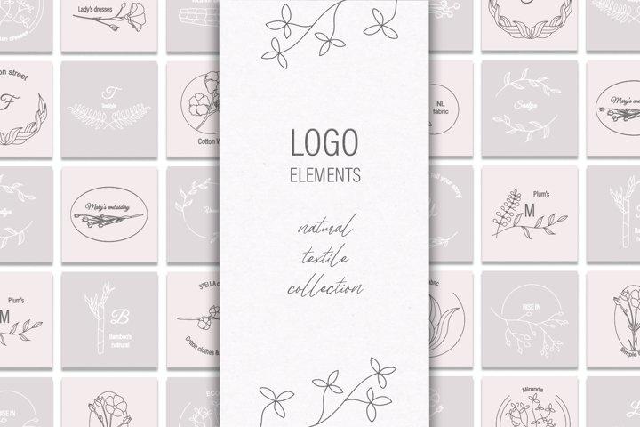 Logo Elements / Premade Logotypes / Textile collection