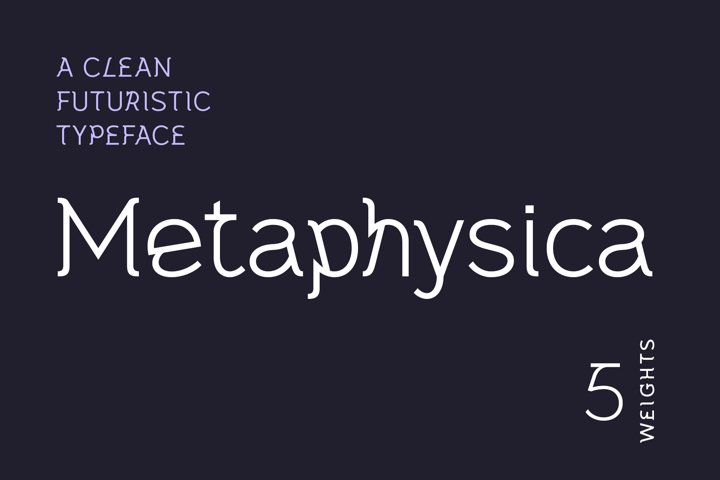 Metaphysica | A Clean Futuristic Typeface | Webfont