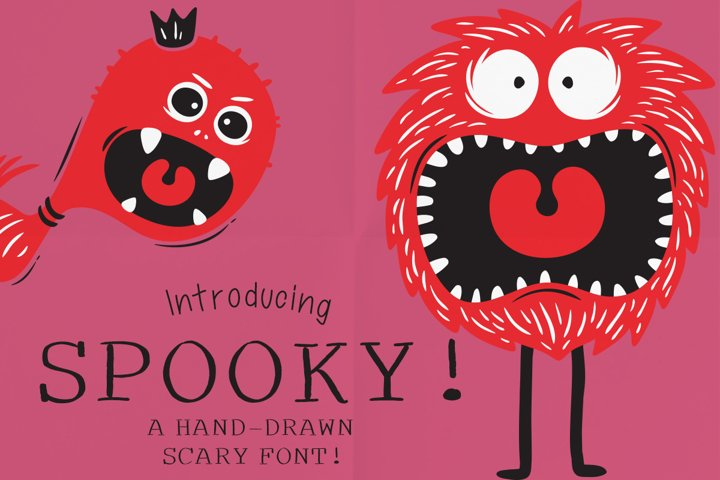 Spooky a Hand-Drawn Serif Font!