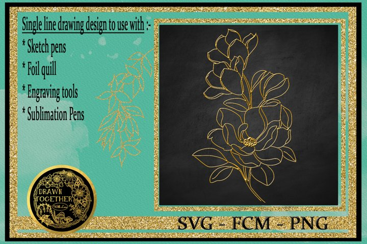 Magnolia 3 - Single line for foil quill