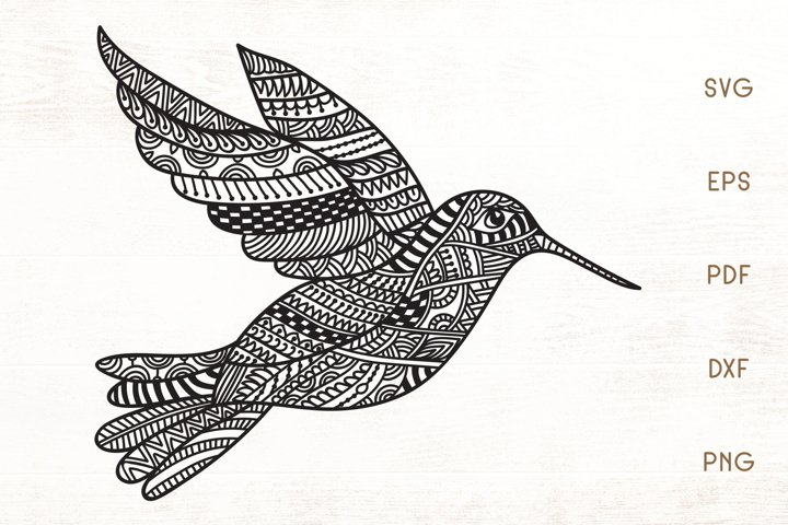 Hummingbird SVG - Zentangle Hummingbird SVG