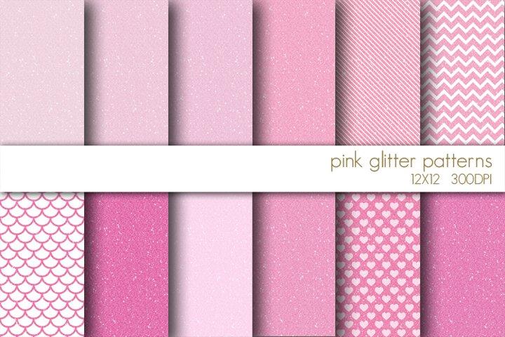 Pink Glitter Digital Paper Pack