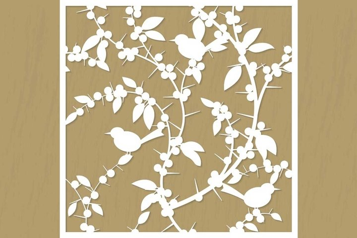 Pattern for cutting blackthorn