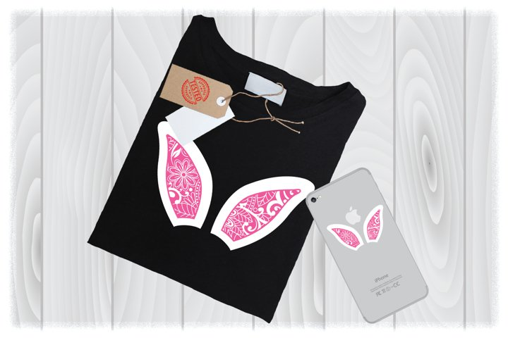 Easter Ears Mandala SVG Files for Cricut Designs|Easter SVG