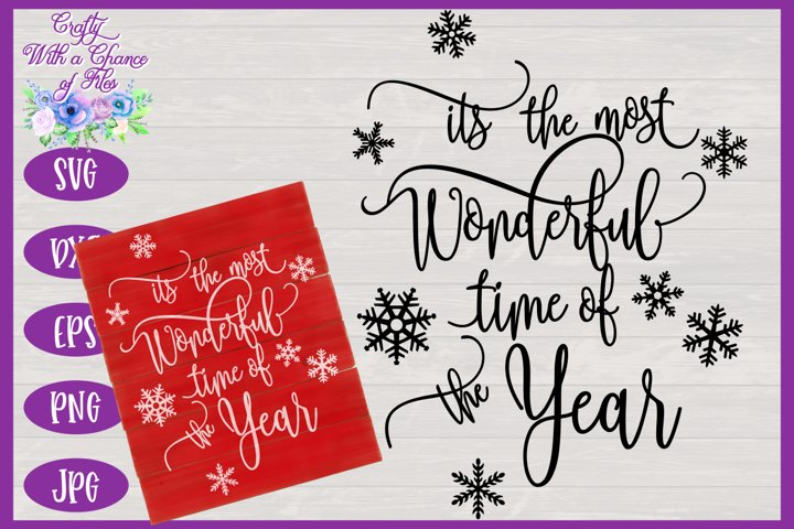 Christmas SVG | Most Wonderful Time of the Year SVG | Winter