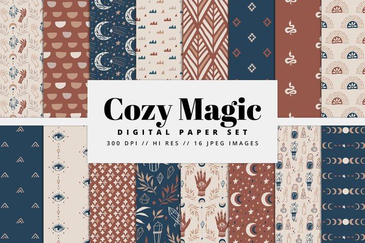 Cozy Magic Digital Paper Set