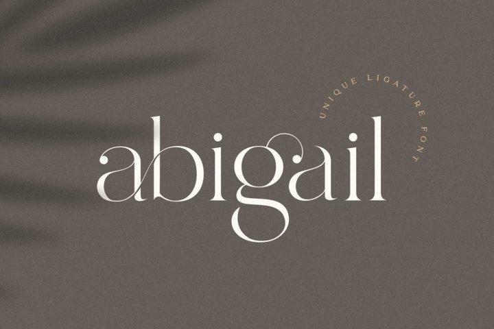 Abigail - Unique Ligature Font