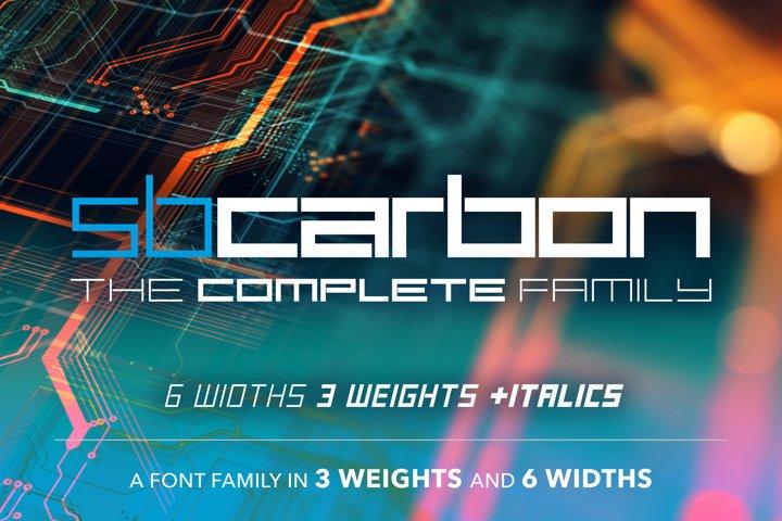 SB Carbon - Complete 36 Font Bundle