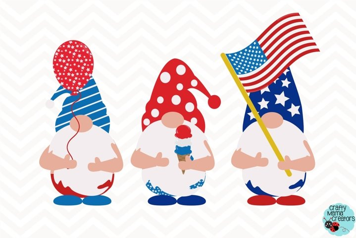 4th Of July Svg, Gnome Clipart, Independence Day Gnomes