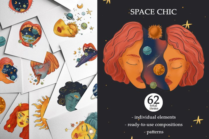 SPACE CHIC universe & girls graphics