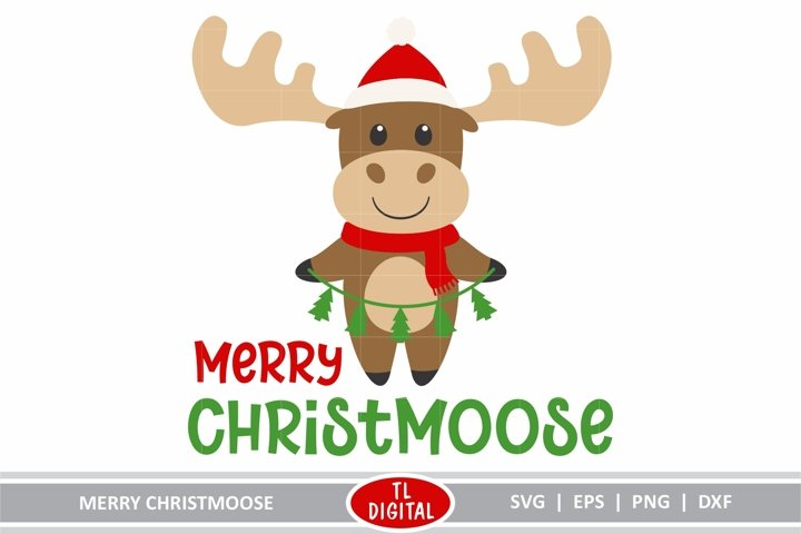 Merry Christmoose - SVG|EPS|PNG|DXF